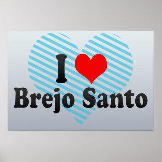 I Love Brejo Santo, Brazil Poster