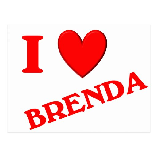 I Love Brenda Post Cards