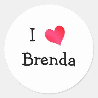 I Love Brenda Classic Round Sticker