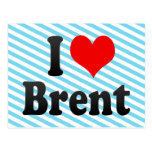 I love Brent Post Card