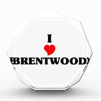 I love Brentwood Ca Acrylic Award