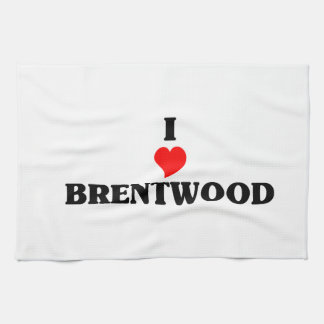 I love Brentwood Ca Hand Towel