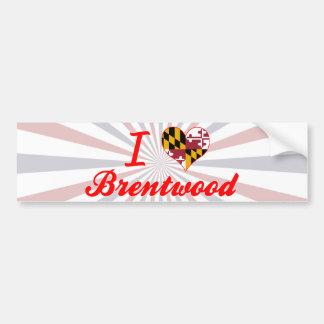 I Love Brentwood, Maryland Car Bumper Sticker