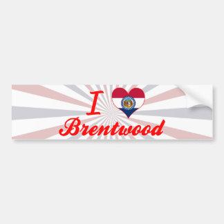 I Love Brentwood, Missouri Car Bumper Sticker