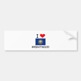 I Love Brentwood New Hampshire Car Bumper Sticker