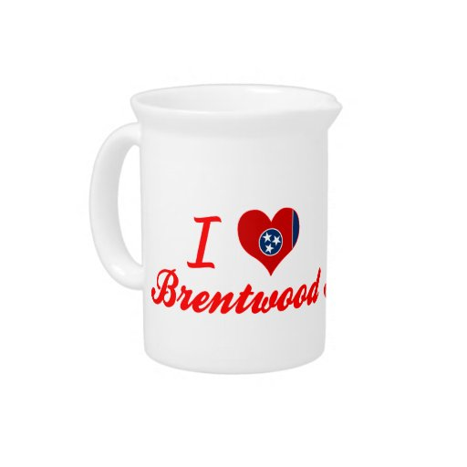 I Love Brentwood, Tennessee Drink Pitchers