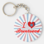 I Love Brentwood, Tennessee Keychain