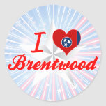 I Love Brentwood, Tennessee Sticker