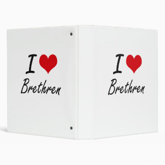 I Love Brethren Artistic Design Vinyl Binders