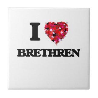 I Love Brethren Small Square Tile