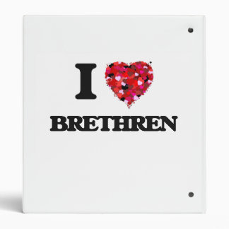 I Love Brethren Vinyl Binders
