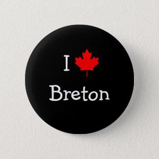 I Love Breton Button