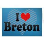 I Love Breton Cards