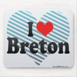 I Love Breton Mouse Pad