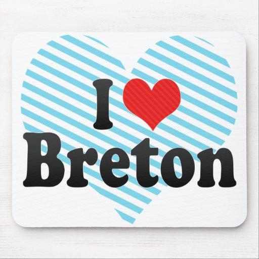 I Love Breton Mousepad