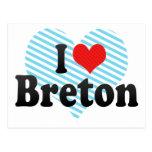 I Love Breton Postcards