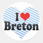 I Love Breton Sticker