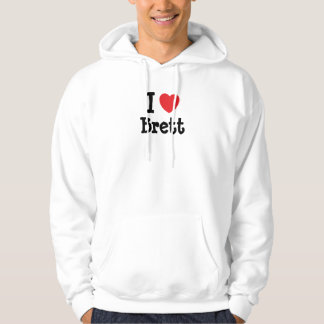 I love Brett heart custom personalized Hoodie