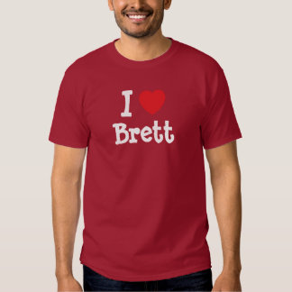 I love Brett heart custom personalized Shirt