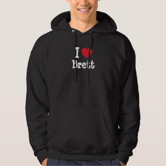 I love Brett heart custom personalized Sweatshirt