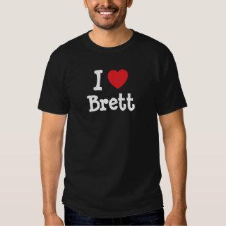 I love Brett heart custom personalized Tee Shirt