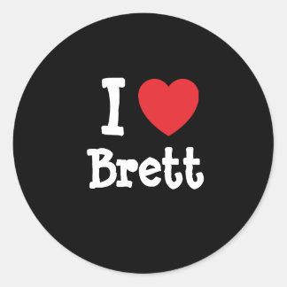 I love Brett heart T-Shirt Classic Round Sticker