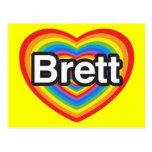 I love Brett. I love you Brett. Heart Post Cards