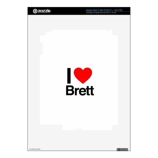 i love brett iPad 3 decals