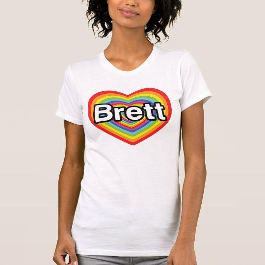 I love Brett: rainbow heart T-Shirt