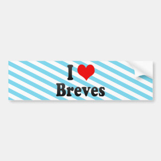 I Love Breves, Brazil Bumper Sticker