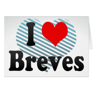 I Love Breves, Brazil Stationery Note Card