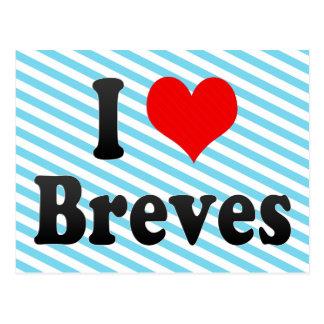 I Love Breves, Brazil Postcard