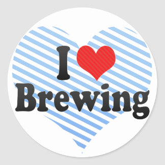 I Love Brewing Classic Round Sticker