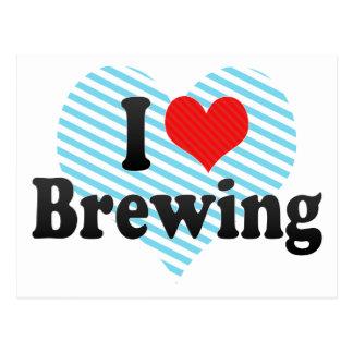 I Love Brewing Postcard