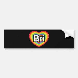 I love Bri: rainbow heart Bumper Sticker