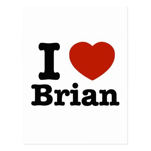 I love Brian Postcards