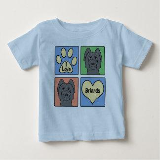 I Love Briards Baby T-Shirt