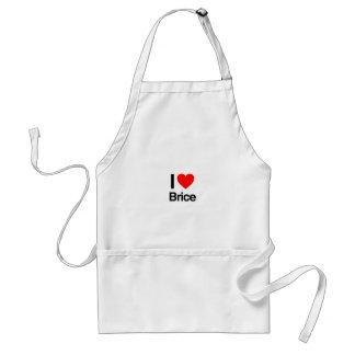 i love brice adult apron