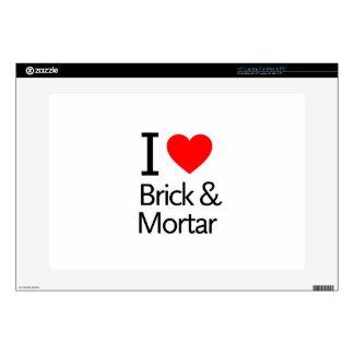 I Love Brick & Mortar Decals For Laptops