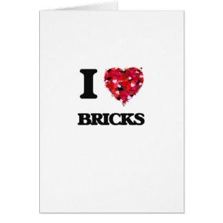 I Love Bricks Greeting Card