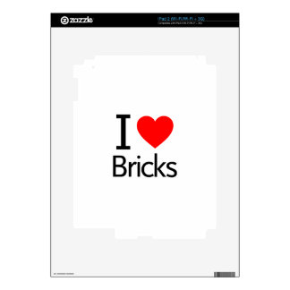 I Love Bricks Skin For iPad 2