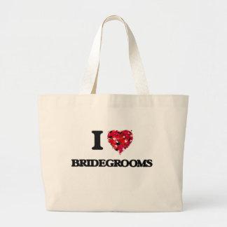 I Love Bridegrooms Jumbo Tote Bag