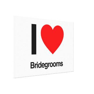 i love bridegrooms canvas print