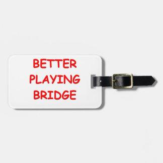 i love bridge bag tags