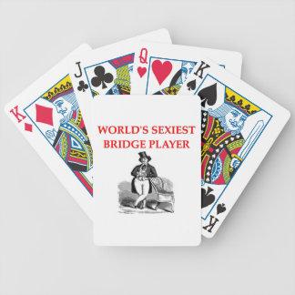 i love bridge bicycle playing cards