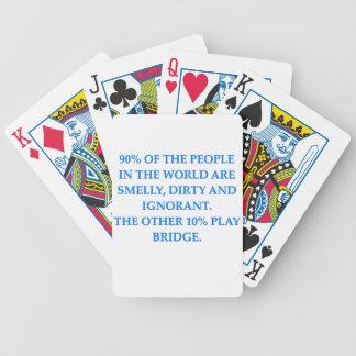 i love bridge bicycle poker cards