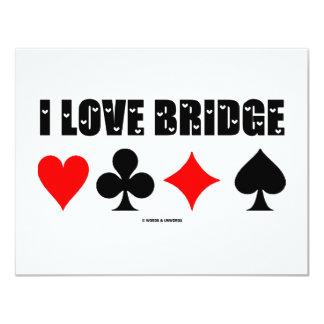 I Love Bridge (Bridge Game) 4.25x5.5 Paper Invitation Card