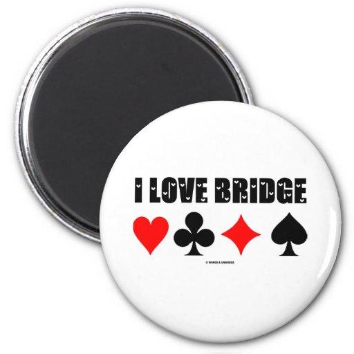 I Love Bridge (Bridge Game) Fridge Magnet
