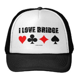I Love Bridge (Bridge Game) Hats