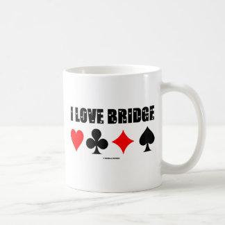 I Love Bridge (Bridge Game) Classic White Coffee Mug